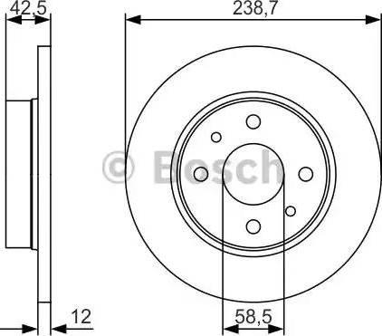 BOSCH 0 986 479 R61 - Bremžu diski interparts.lv