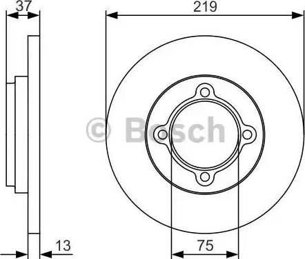BOSCH 0 986 479 R62 - Bremžu diski interparts.lv