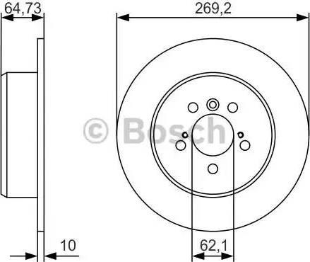 BOSCH 0 986 479 R00 - Bremžu diski interparts.lv