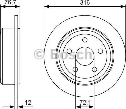 BOSCH 0 986 479 R08 - Bremžu diski interparts.lv