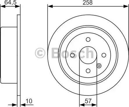 BOSCH 0 986 479 S75 - Bremžu diski interparts.lv