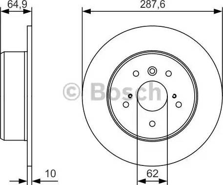 BOSCH 0 986 479 T69 - Bremžu diski interparts.lv