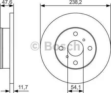 BOSCH 0 986 479 T68 - Bremžu diski interparts.lv