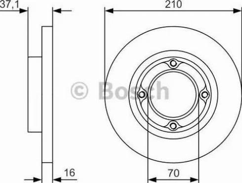 BOSCH 0 986 479 U96 - Bremžu diski interparts.lv