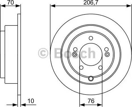BOSCH 0 986 479 V53 - Bremžu diski interparts.lv