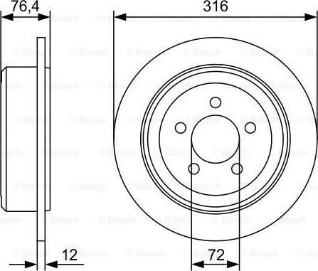 BOSCH 0 986 479 W22 - Bremžu diski interparts.lv