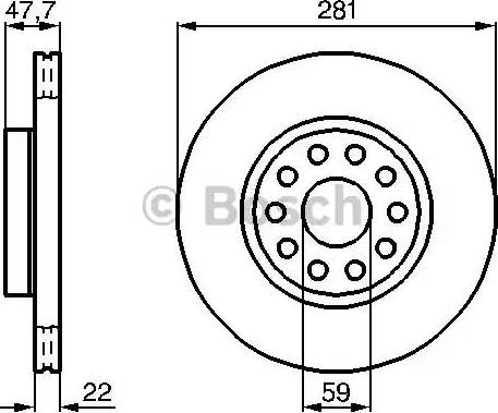BOSCH 0 986 478 993 - Bremžu diski interparts.lv