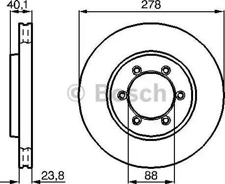 BOSCH 0 986 478 967 - Bremžu diski interparts.lv