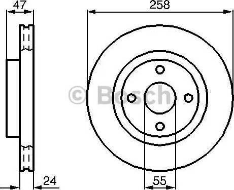 BOSCH 0 986 478 989 - Bremžu diski interparts.lv