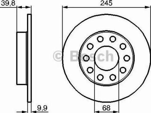 BOSCH 0 986 478 986 - Bremžu diski interparts.lv