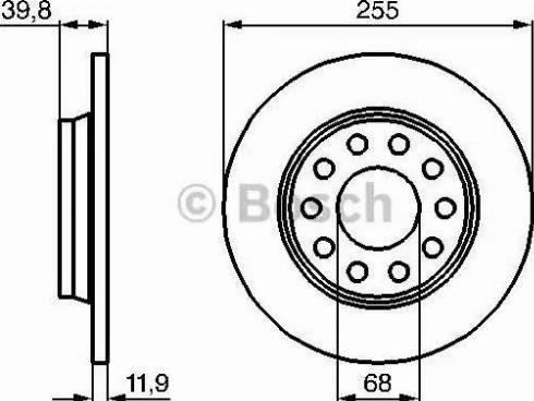 BOSCH 0 986 478 987 - Bremžu diski interparts.lv