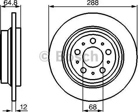 BOSCH 0 986 478 495 - Bremžu diski interparts.lv