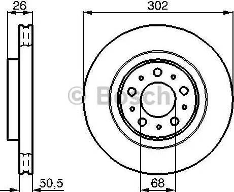 BOSCH 0 986 478 454 - Bremžu diski interparts.lv