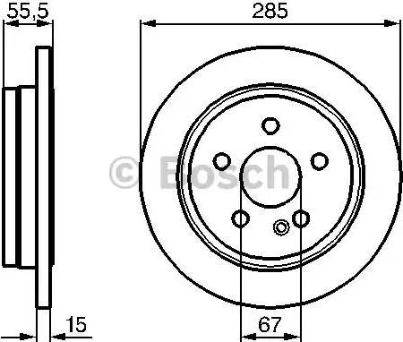 BOSCH 0 986 478 469 - Bremžu diski interparts.lv