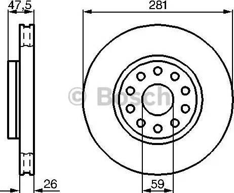 BOSCH 0 986 478 460 - Bremžu diski interparts.lv