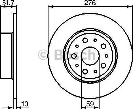 BOSCH 0 986 478 463 - Bremžu diski interparts.lv