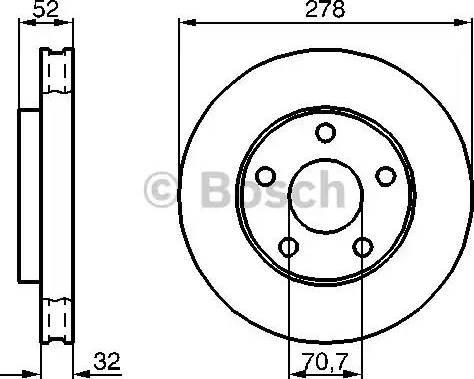 BOSCH 0 986 478 486 - Bremžu diski interparts.lv
