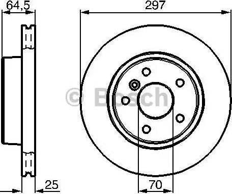 BOSCH 0 986 478 483 - Bremžu diski interparts.lv