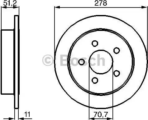 BOSCH 0 986 478 487 - Bremžu diski interparts.lv