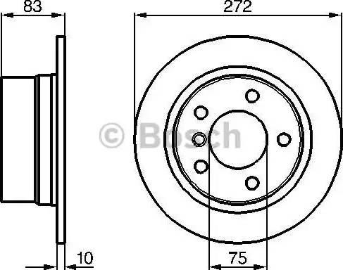 BOSCH 0 986 478 439 - Bremžu diski interparts.lv