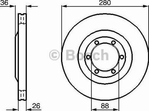 BOSCH 0 986 478 437 - Bremžu diski interparts.lv