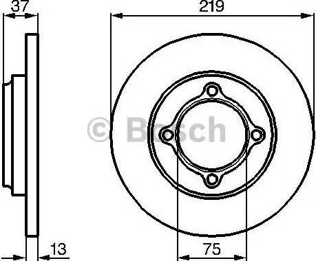 BOSCH 0 986 478 429 - Bremžu diski interparts.lv