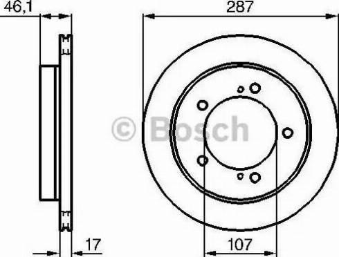 BOSCH 0 986 478 422 - Bremžu diski interparts.lv