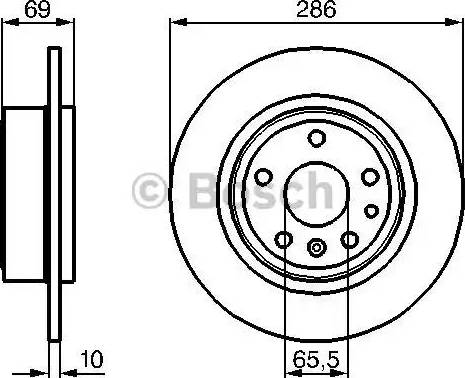 BOSCH 0 986 478 478 - Bremžu diski interparts.lv
