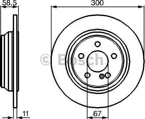 BOSCH 0 986 478 472 - Bremžu diski interparts.lv