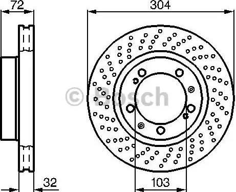 BOSCH 0 986 478 599 - Bremžu diski interparts.lv