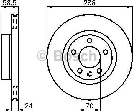 BOSCH 0 986 478 594 - Bremžu diski interparts.lv