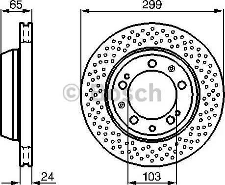 BOSCH 0 986 478 595 - Bremžu diski interparts.lv