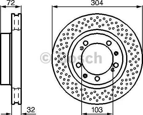 BOSCH 0 986 478 597 - Bremžu diski interparts.lv