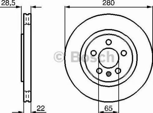 BOSCH 0 986 478 542 - Bremžu diski interparts.lv