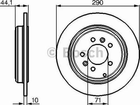 BOSCH 0 986 478 556 - Bremžu diski interparts.lv