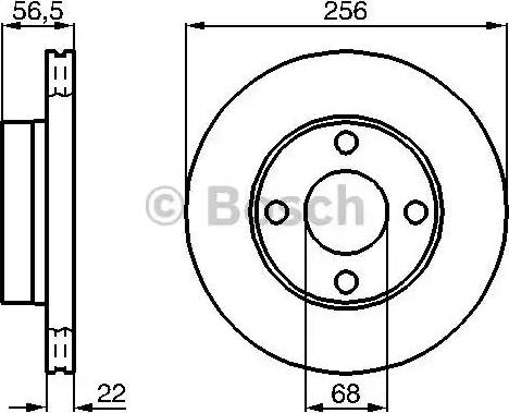 BOSCH 0 986 478 550 - Bremžu diski interparts.lv