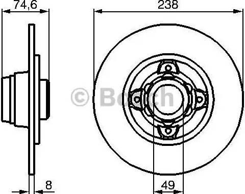 BOSCH 0 986 478 557 - Bremžu diski interparts.lv