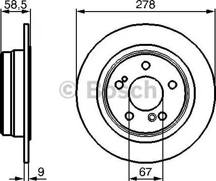 BOSCH 0 986 478 565 - Bremžu diski interparts.lv