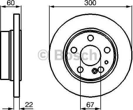 BOSCH 0 986 478 566 - Bremžu diski interparts.lv