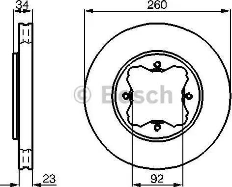 BOSCH 0 986 478 568 - Bremžu diski interparts.lv