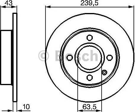 BOSCH 0 986 478 501 - Bremžu diski interparts.lv