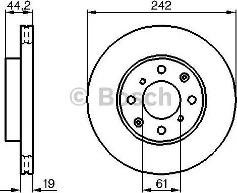BOSCH 0 986 478 503 - Bremžu diski interparts.lv
