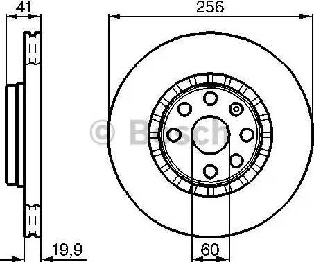 BOSCH 0 986 478 535 - Bremžu diski interparts.lv
