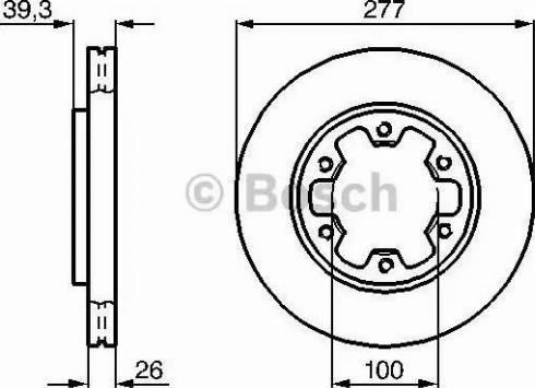BOSCH 0 986 478 532 - Bremžu diski interparts.lv
