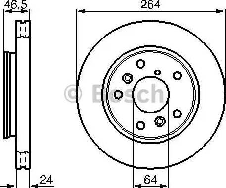 BOSCH 0 986 478 523 - Bremžu diski interparts.lv