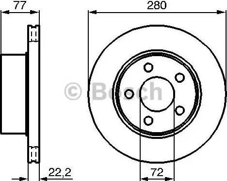 BOSCH 0 986 478 694 - Bremžu diski interparts.lv