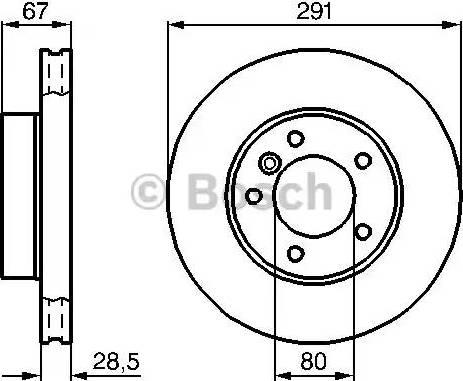BOSCH 0 986 478 691 - Bremžu diski interparts.lv