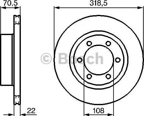 BOSCH 0 986 478 698 - Bremžu diski interparts.lv