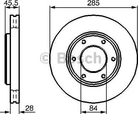 BOSCH 0 986 478 693 - Bremžu diski interparts.lv