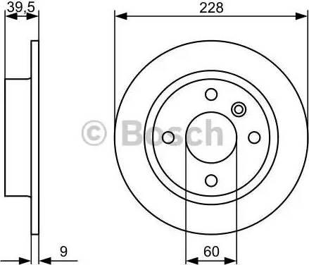 BOSCH 0 986 478 644 - Bremžu diski interparts.lv